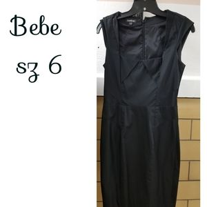 Sz 6 Bebe little Black dress structured